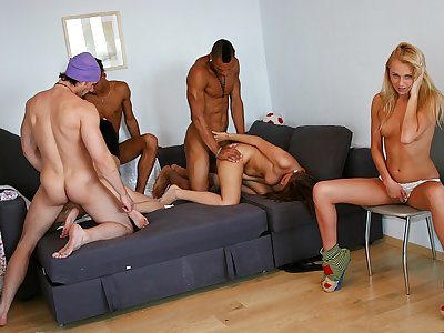 Cock-hungry school damsels have a load
